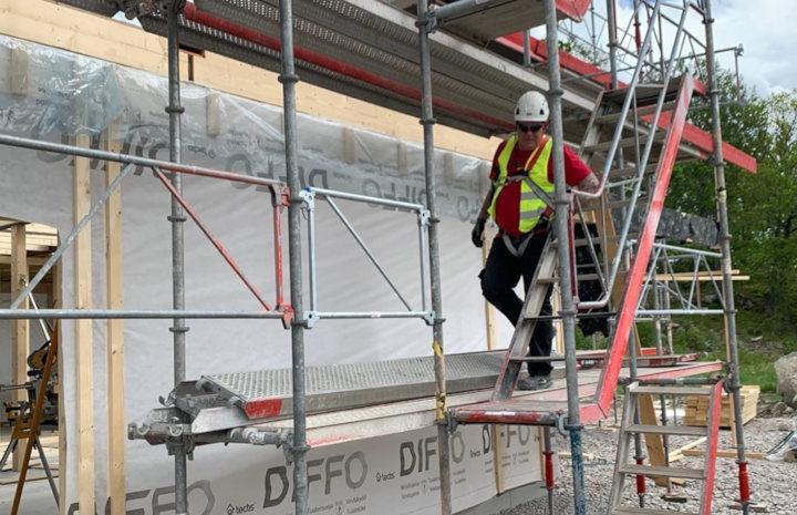 Stor efterfrågan på byggställning privat